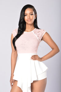 Lace And Love Romper - Blush Angle 1