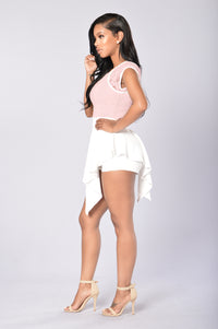 Lace And Love Romper - Blush Angle 4