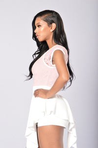 Lace And Love Romper - Blush Angle 5