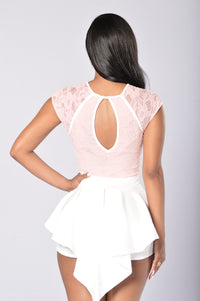 Lace And Love Romper - Blush Angle 6