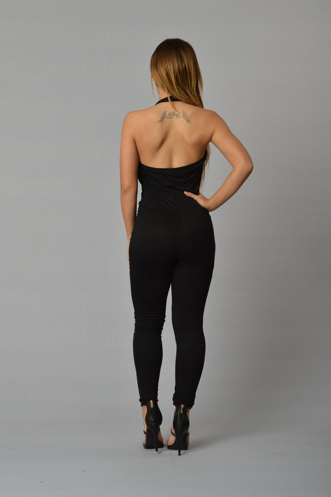 In Too Deep Jumpsuit - Black