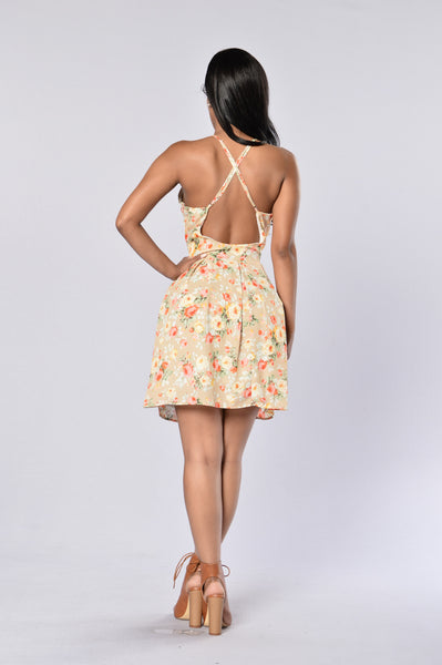 Sunday Dress - Nude Floral
