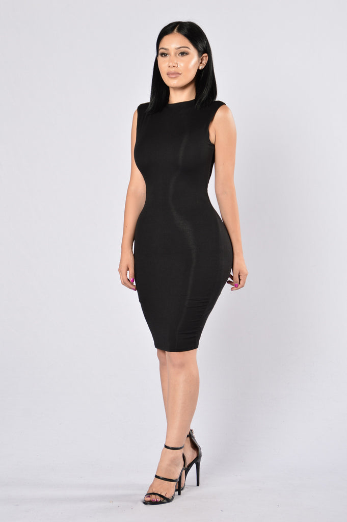 Simple As Can Be Dress - Black
