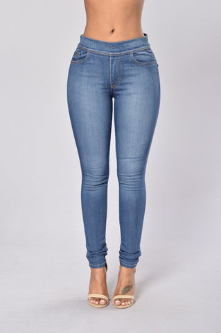 Suave Jegging - Medium Wash