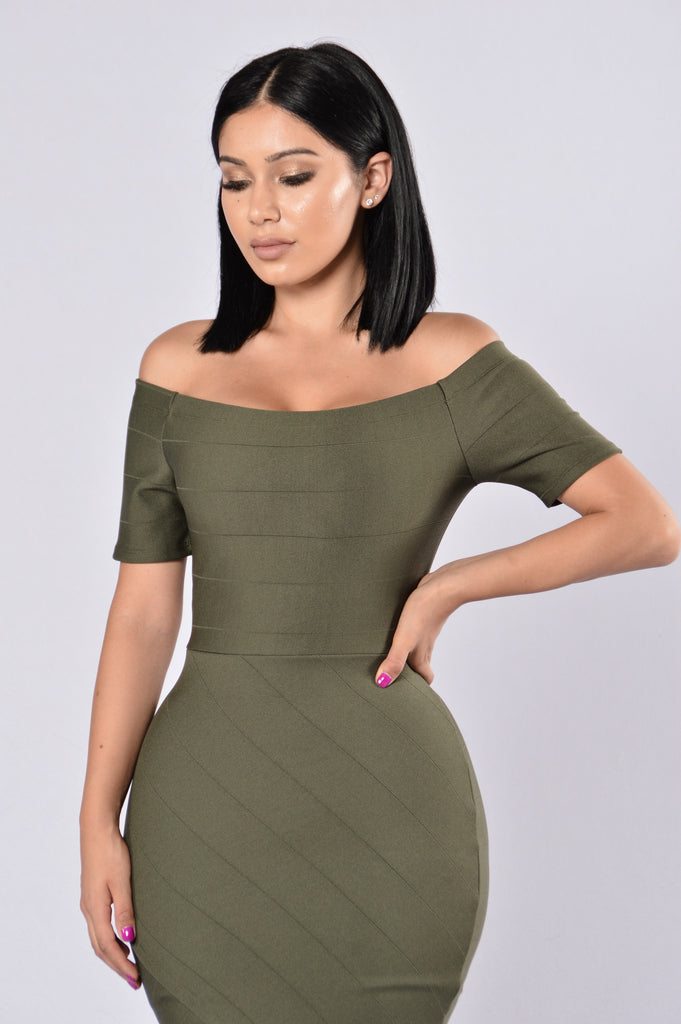 Made For You Dress - Olive