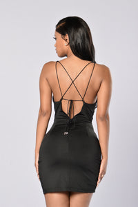 Strapped to Kill Dress - Black