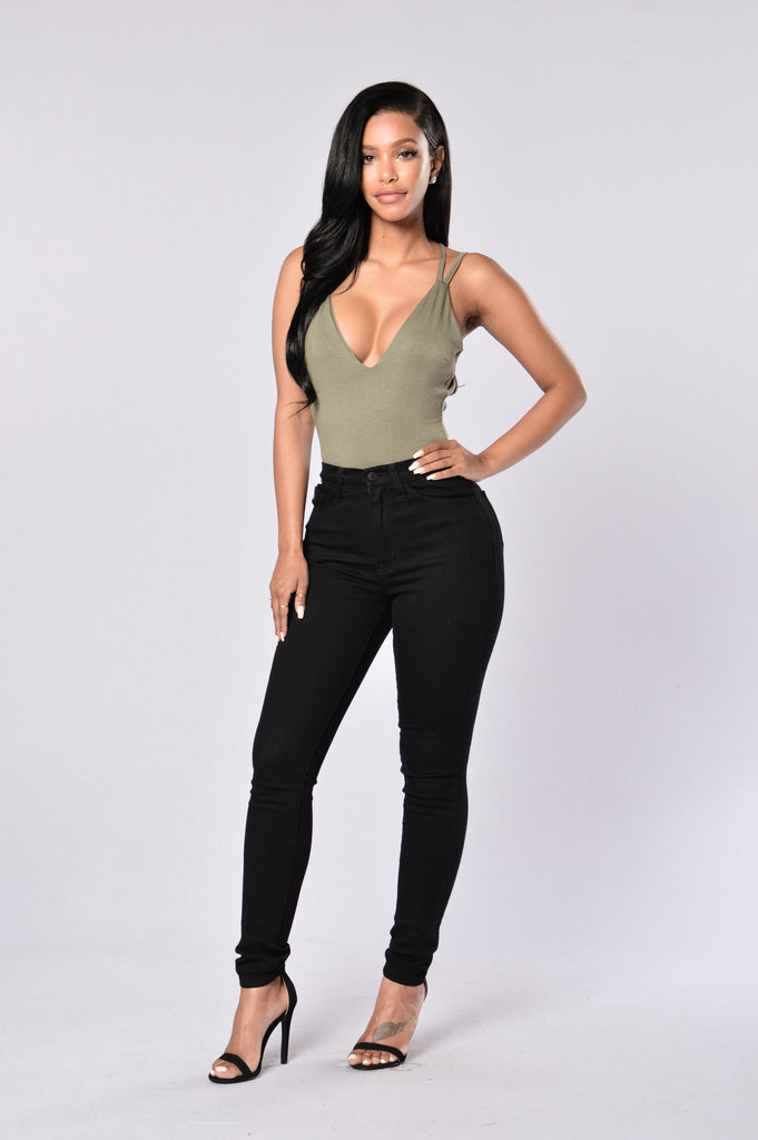 Crush Bodysuit - Olive