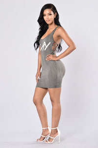 Always Slay Dress - Grey