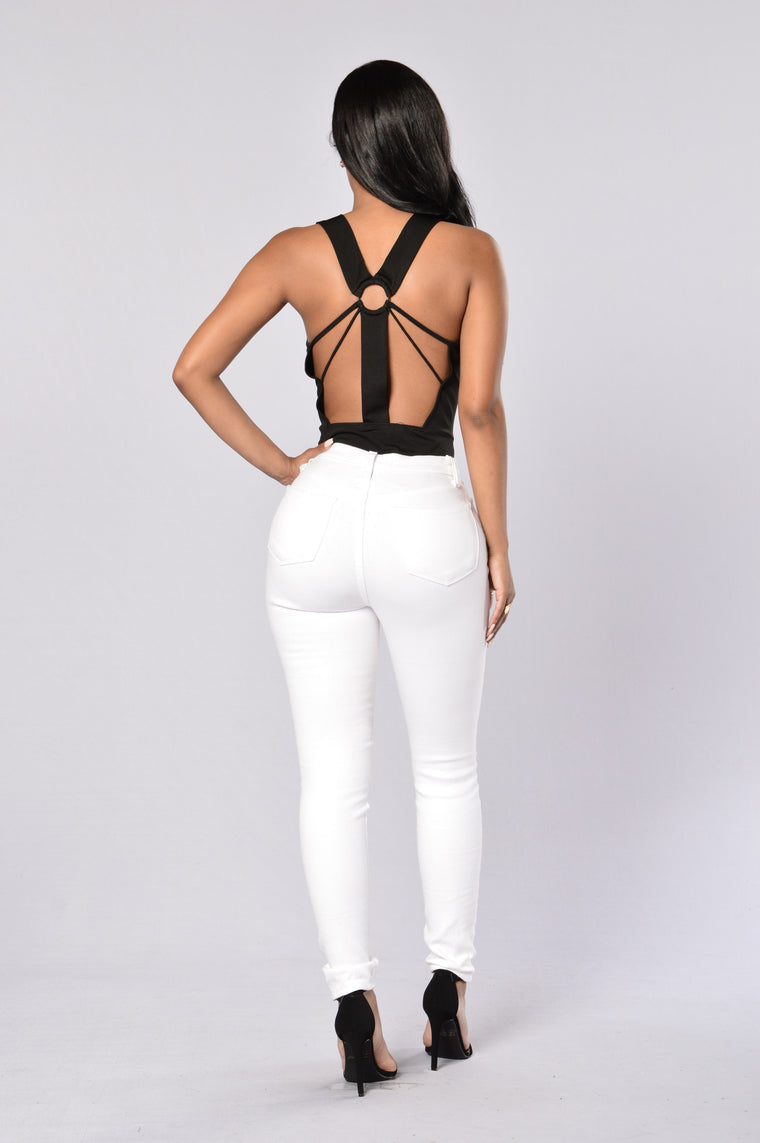 Put A Ring On It Bodysuit - Black