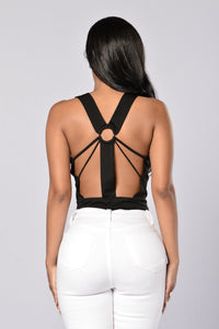 Put A Ring On It Bodysuit - Black Angle 1
