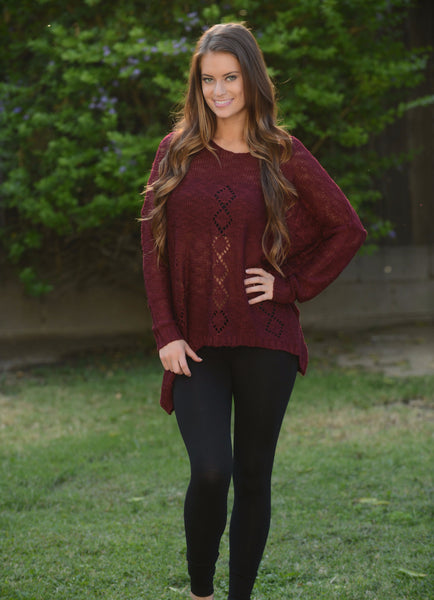 Jenna Sweater - Burgundy