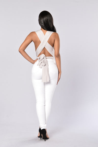 My Way Or The Highway Bodysuit - Silver