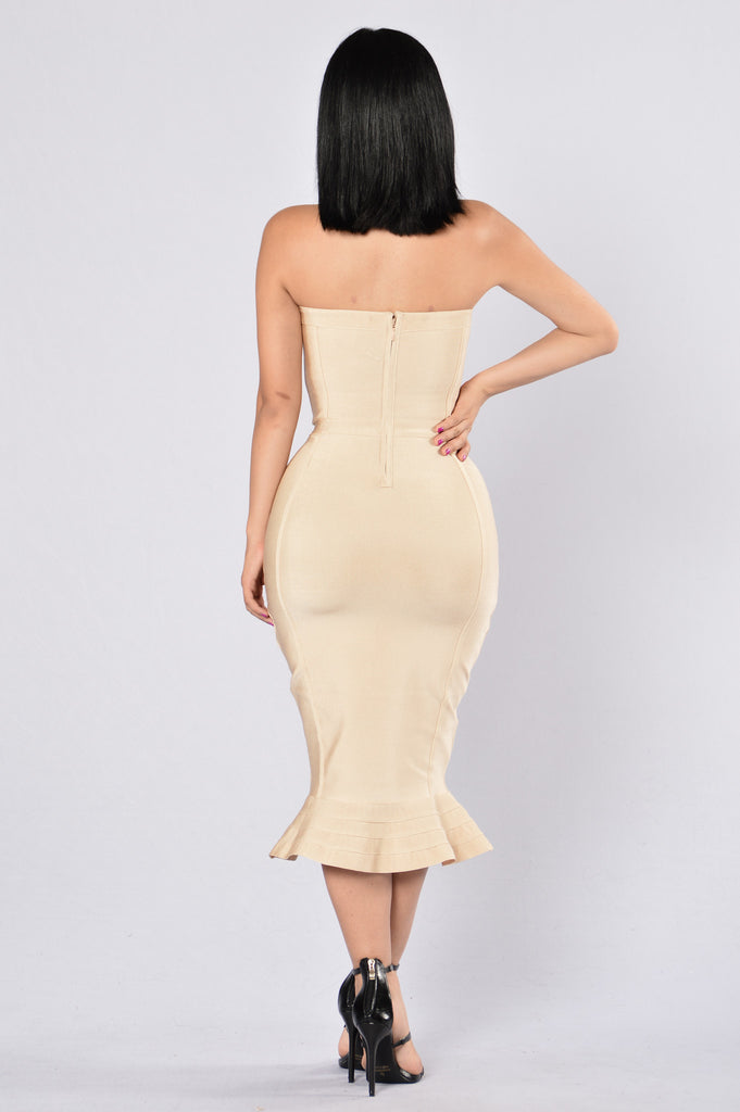 Two to Tango Bandage Dress - Natural