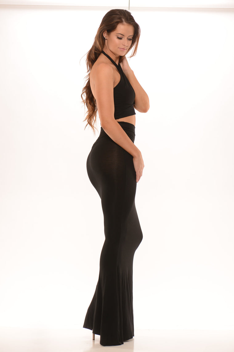 Pageant Queen Maxi Skirt - Black