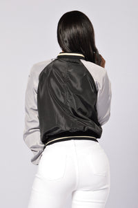 Hypnotize Bomber Jacket - Black/Grey