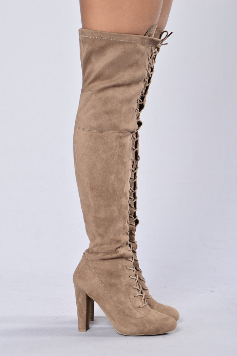 Love Me Long Time Boot - Taupe