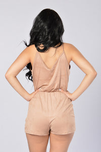 Love Like Yours Romper - Khaki