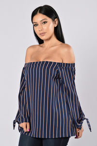 Between Us Top - Navy