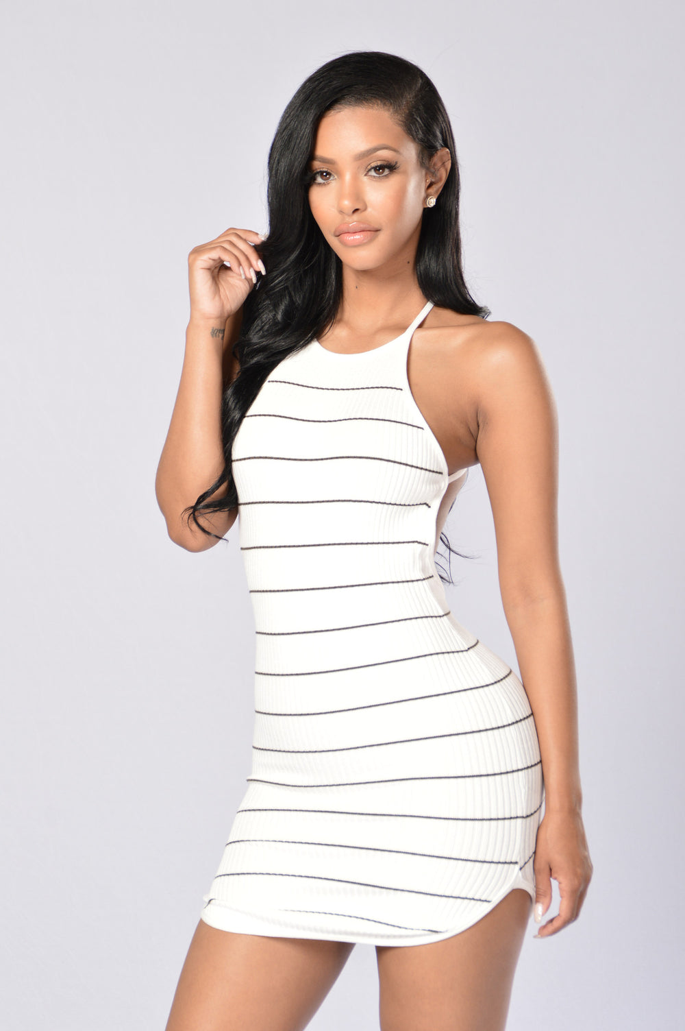 Mischievous Dress - White