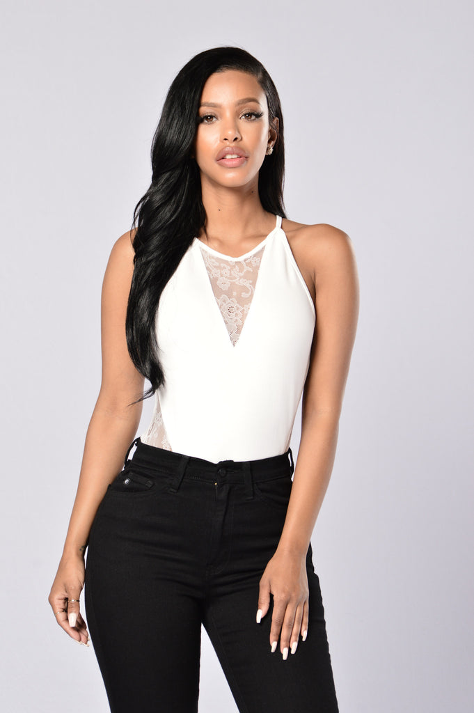 Head in the Clouds Bodysuit - White
