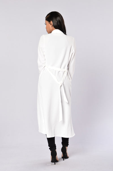 Business Casual Coat - White