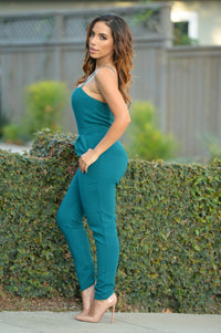 Newly Acquainted Jumpsuit - Teal