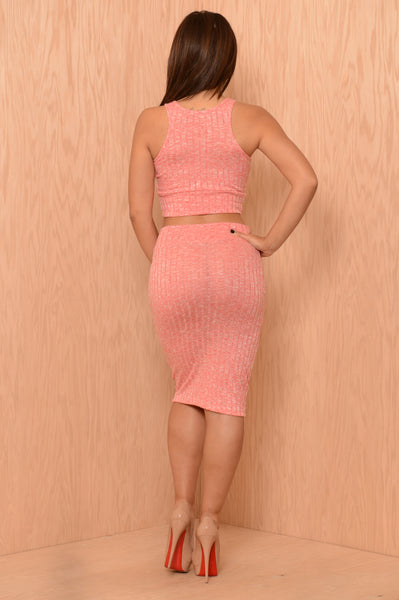 Cassidy Skirt - Coral