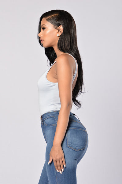 Keep It Simple Bodysuit - Dusty Blue