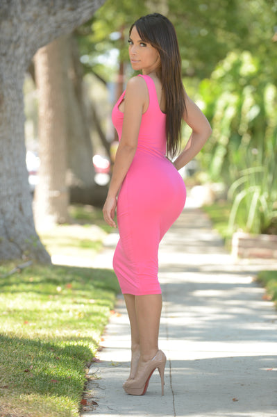 Tracy Dress - Fuchsia