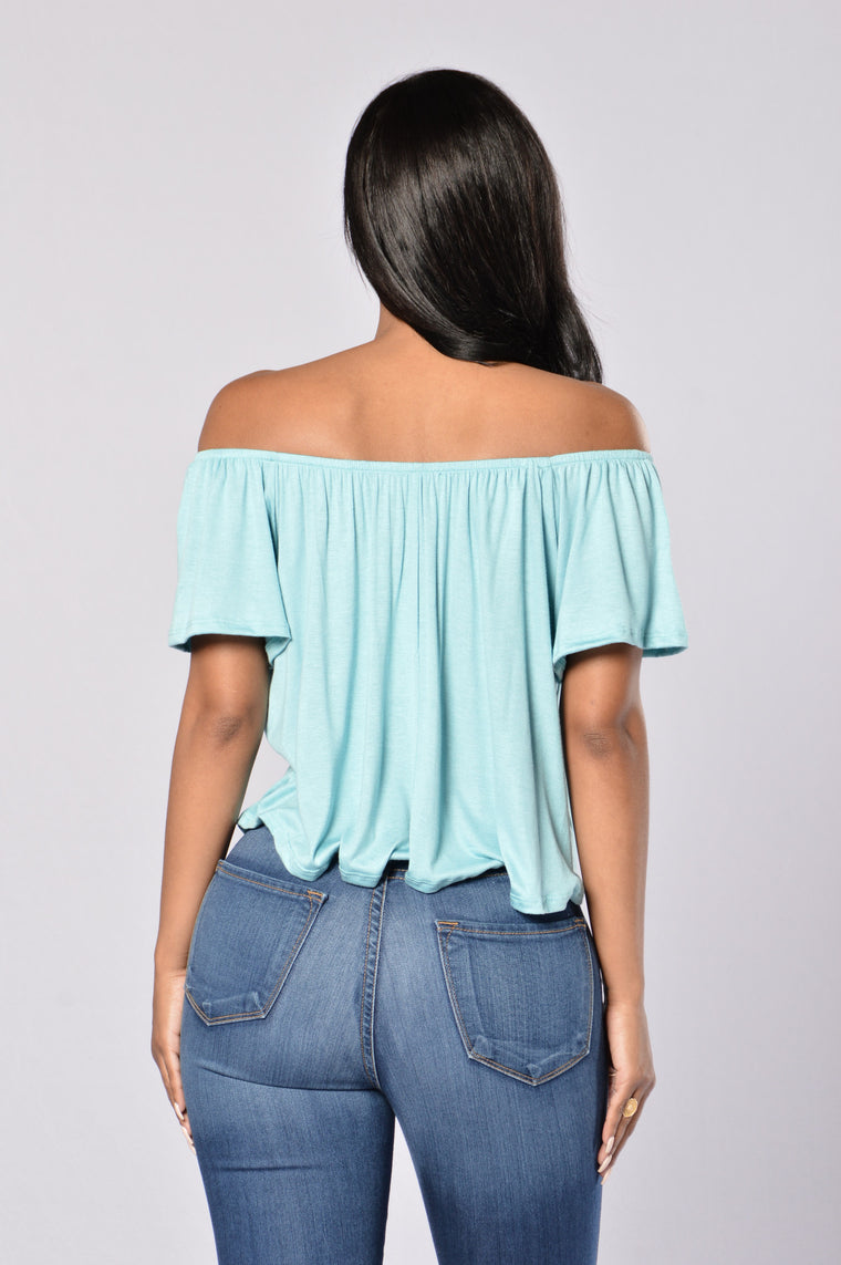 Off Broadway Top - Turquoise