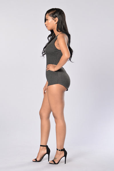 Chill Out Romper - Charcoal