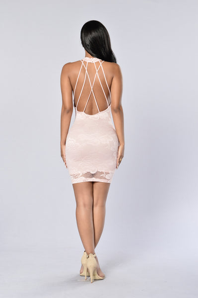Gia Lace Dress - Mauve