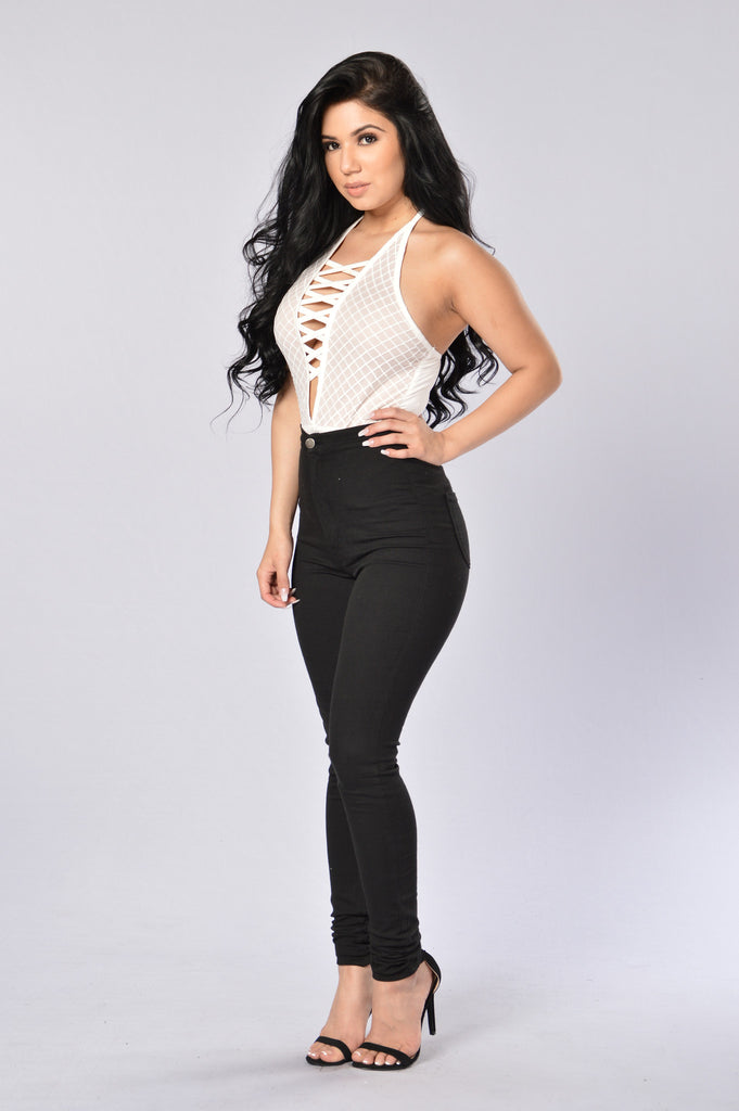 Caught Off Guard Bodysuit - Ivory