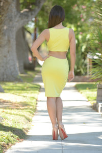 Tasha Dress - Lemon