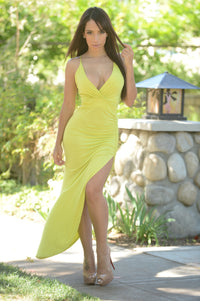 Meg Dress - Lime