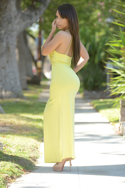 Hips Don't Lie Dress - Lemon
