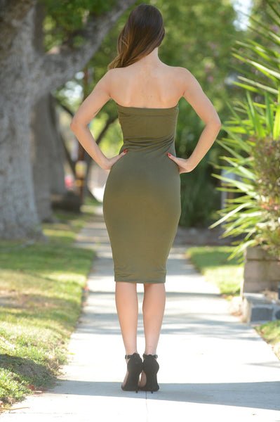 Carly Dress - Olive