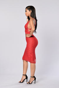 Get Lost With Me Dress - Red