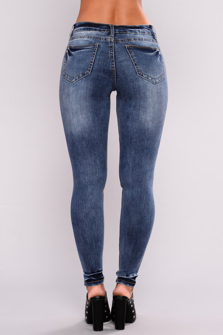 Toodles Skinny Jeans - Medium Blue