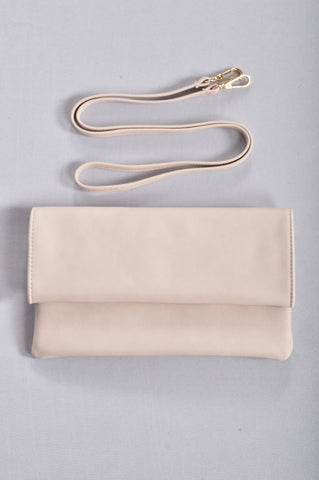 Anytime, Anywhere Clutch - Ivory