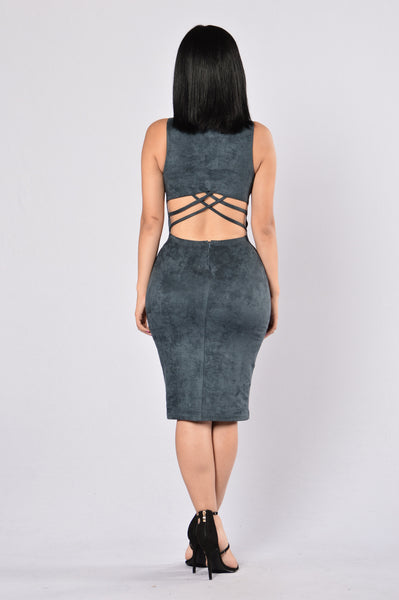 Behind Their Back Dress - Navy