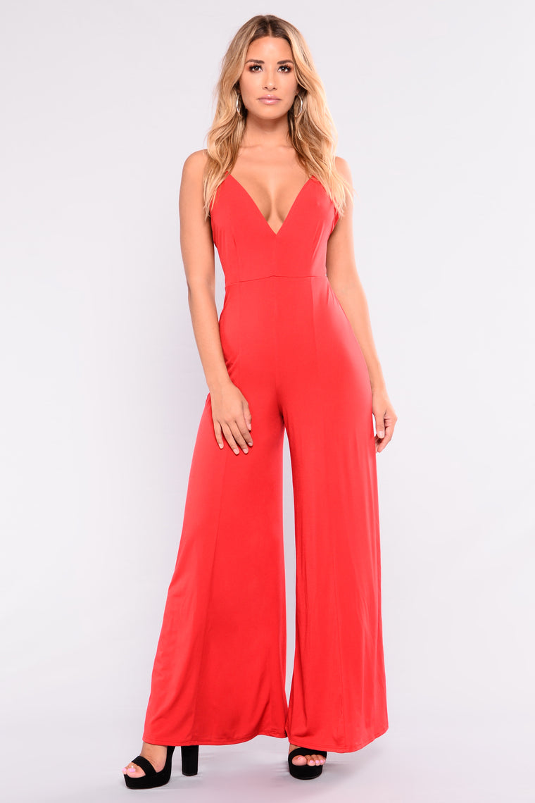 Dasia Jumpsuit - Red