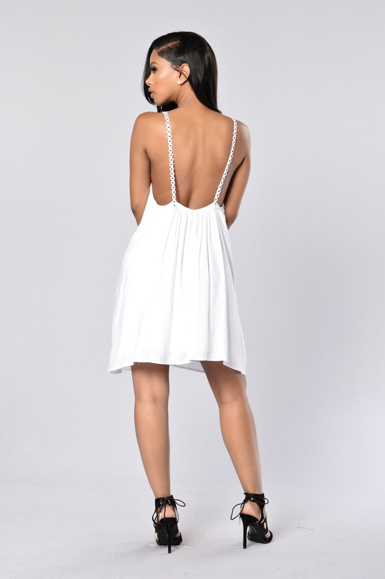Playful Dress - White