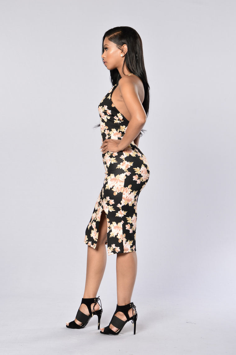 Samantha Dress - Black Floral