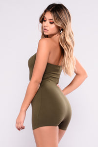 Buenos Aires Romper - Olive