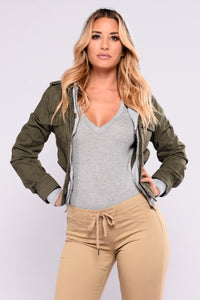 Keep It Casual Jacket - Olive