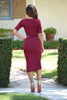 Karen Dress - Burgundy