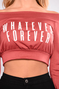 Lets Be Whatever Forever Sweater - Mauve