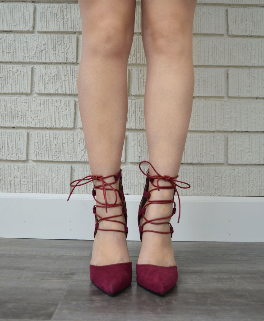 Demeanor Heel - Burgundy