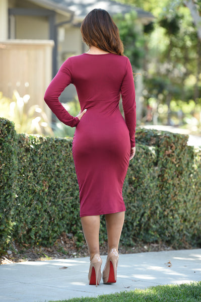 Kara Dress - Burgundy